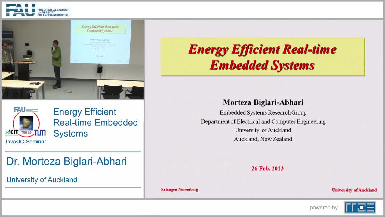 Energy Efficient Real-time Embedded Systems preview image