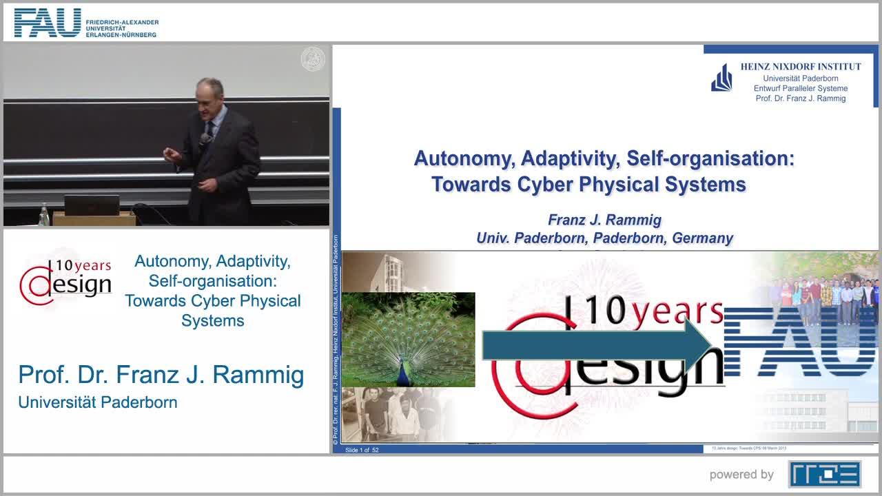 Autonomie, Adaptivität, Selbstorganisation: Auf dem Weg zu Cyber Physical Systems preview image