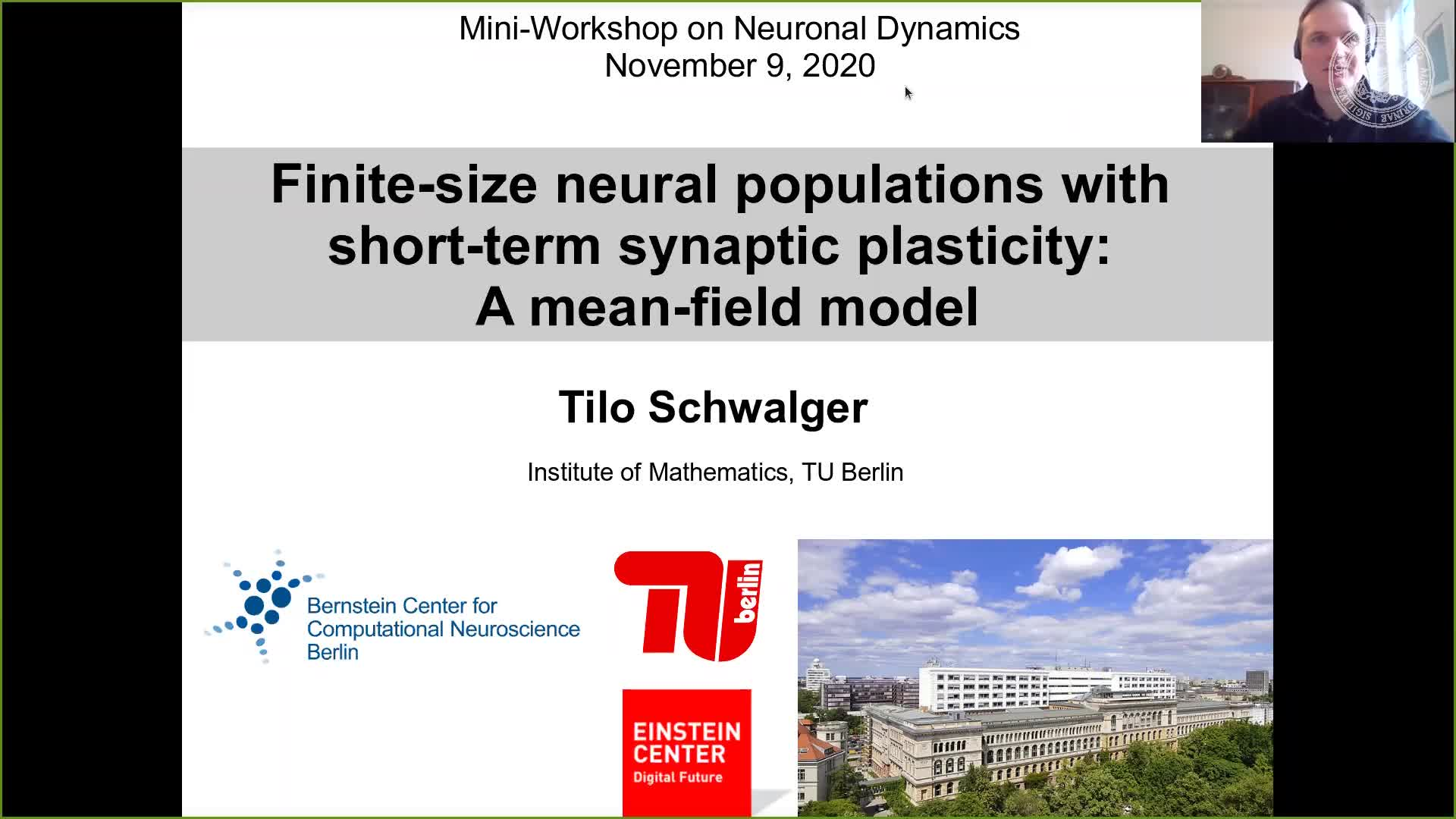 Finite-size neural populations with short-term synaptic plasticity: A mean-field model. (Tilo Schwalger, TU Berlin) preview image