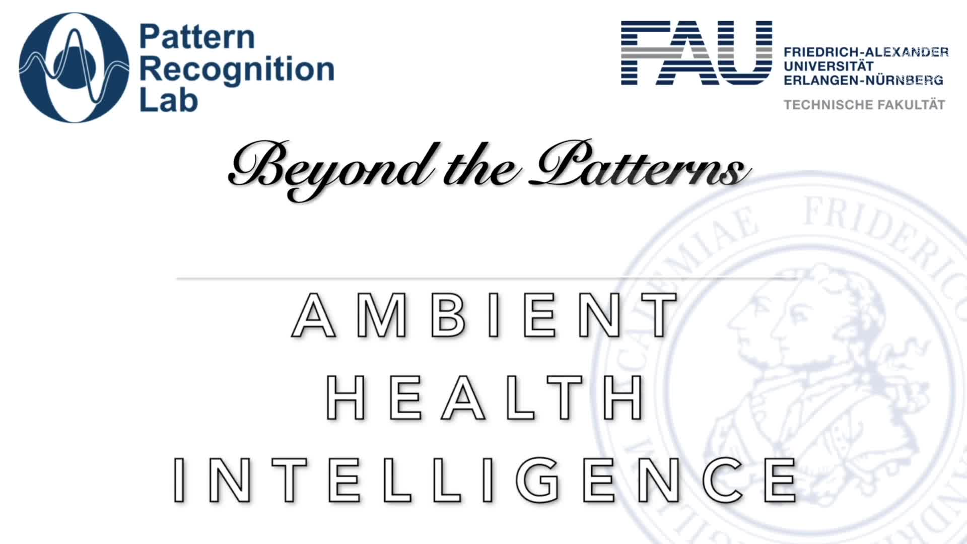 Beyond the Patterns - Prof. Dr. Björn Schuller -Ambient Health Intelligence preview image