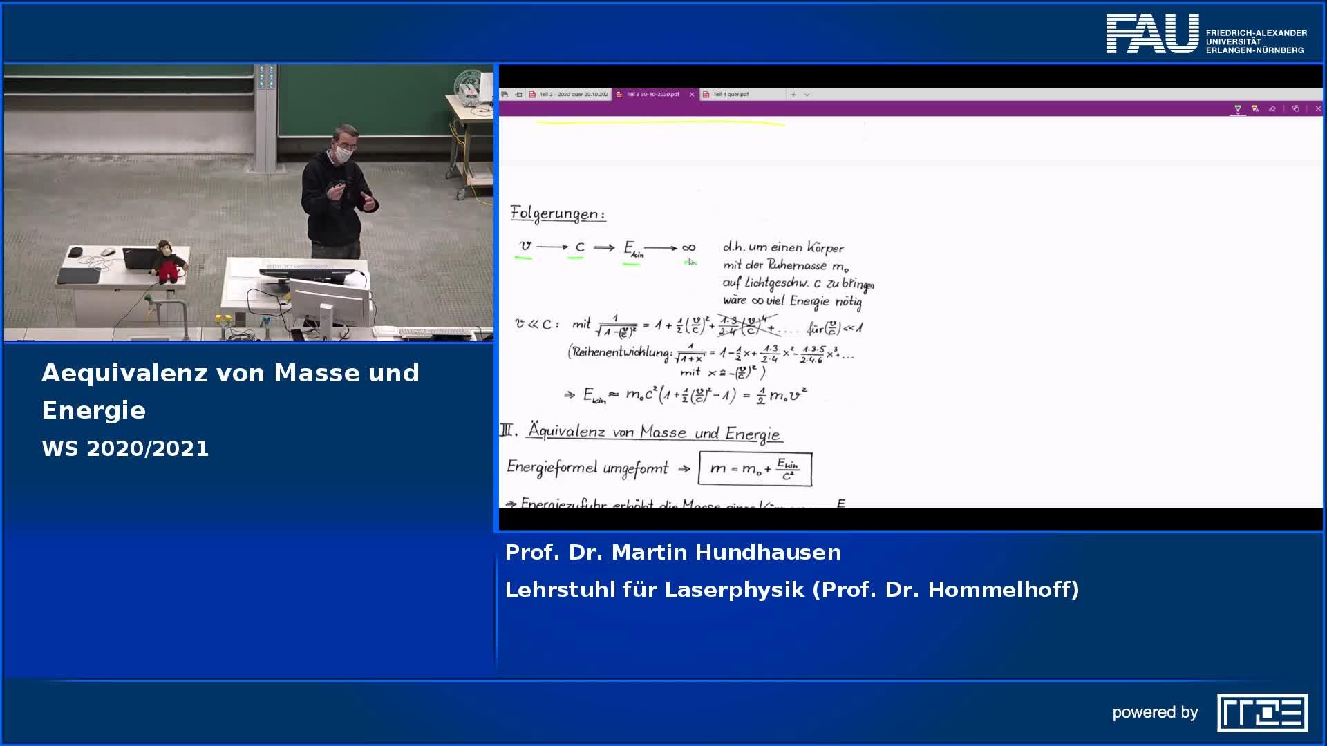 Äquivalenz von Masse und Energie preview image