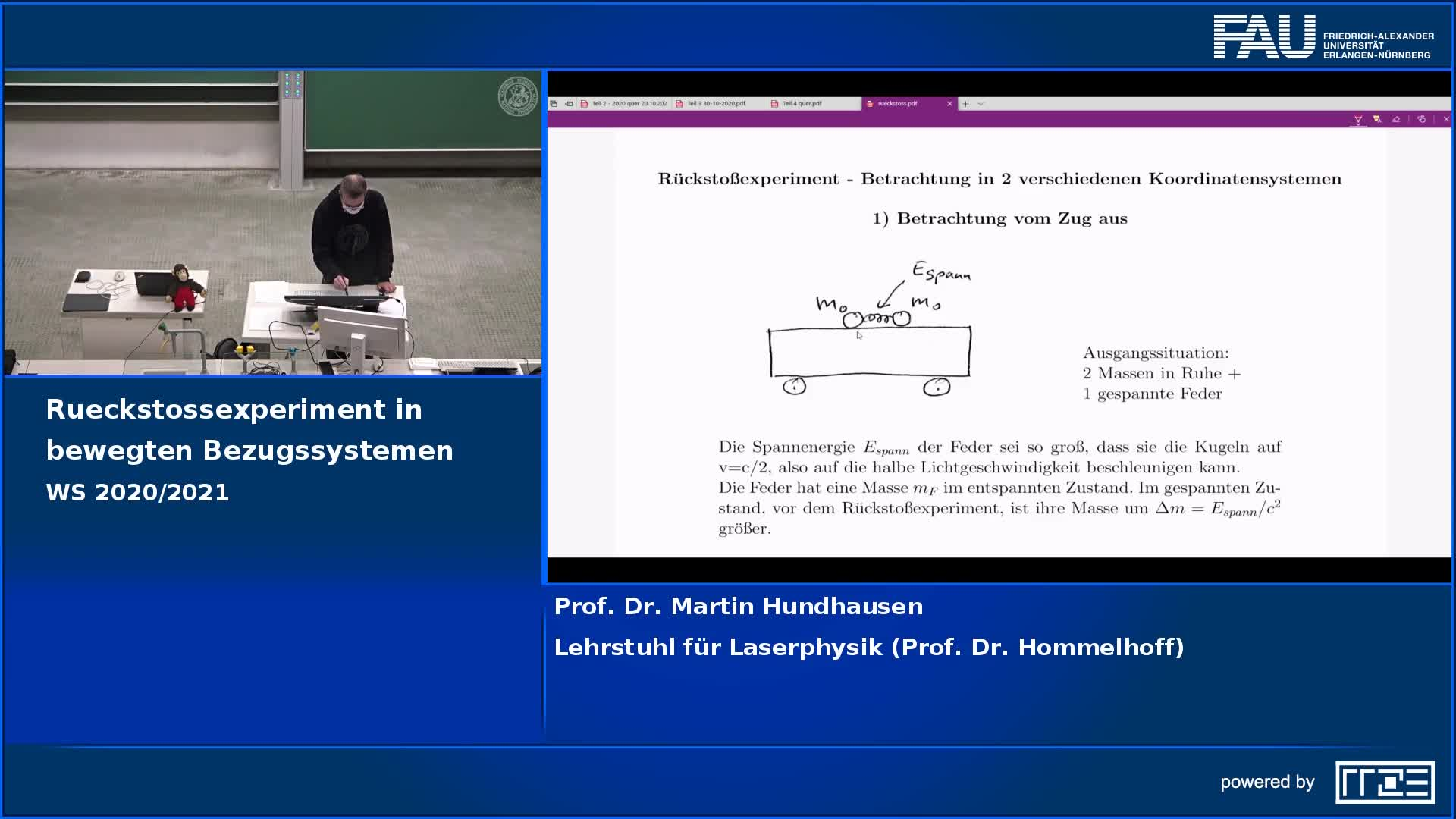 Rückstoßexperiment in bewegten Bezugssystemen preview image