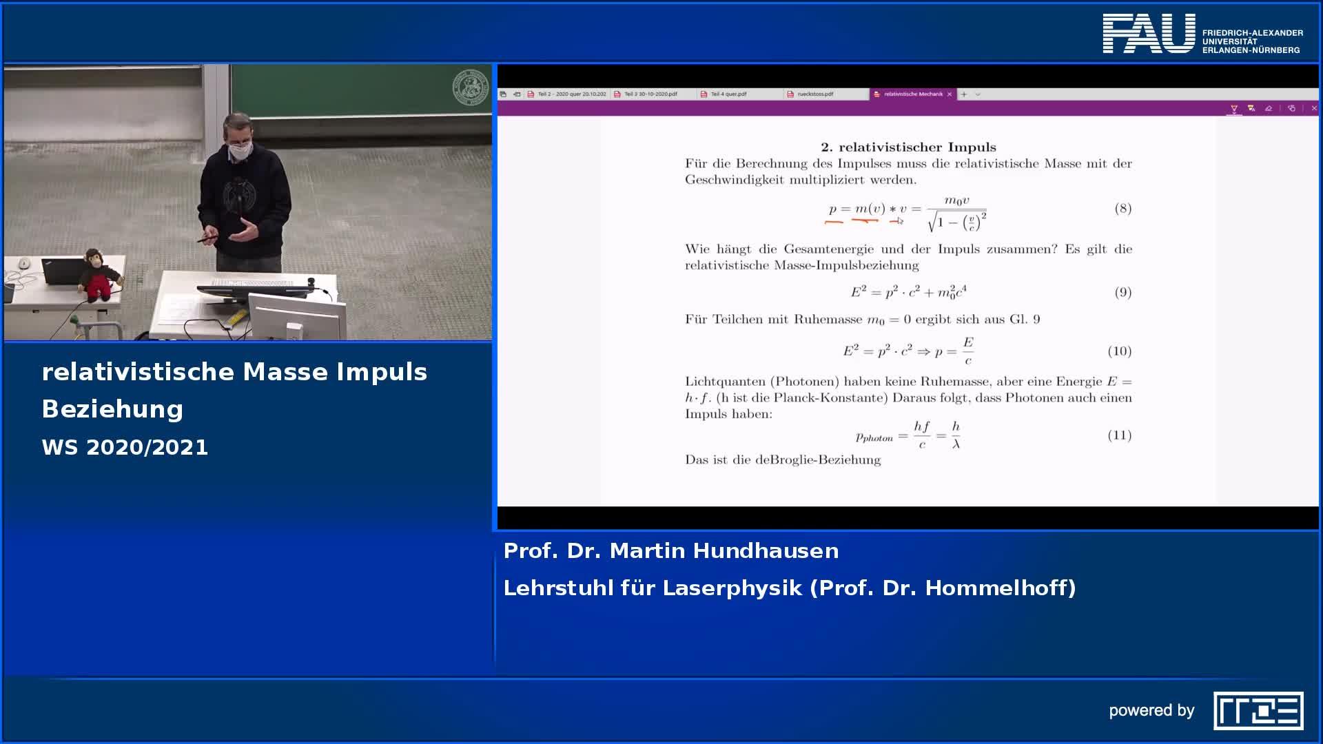 Relativistische Masse-Impuls Beziehung preview image