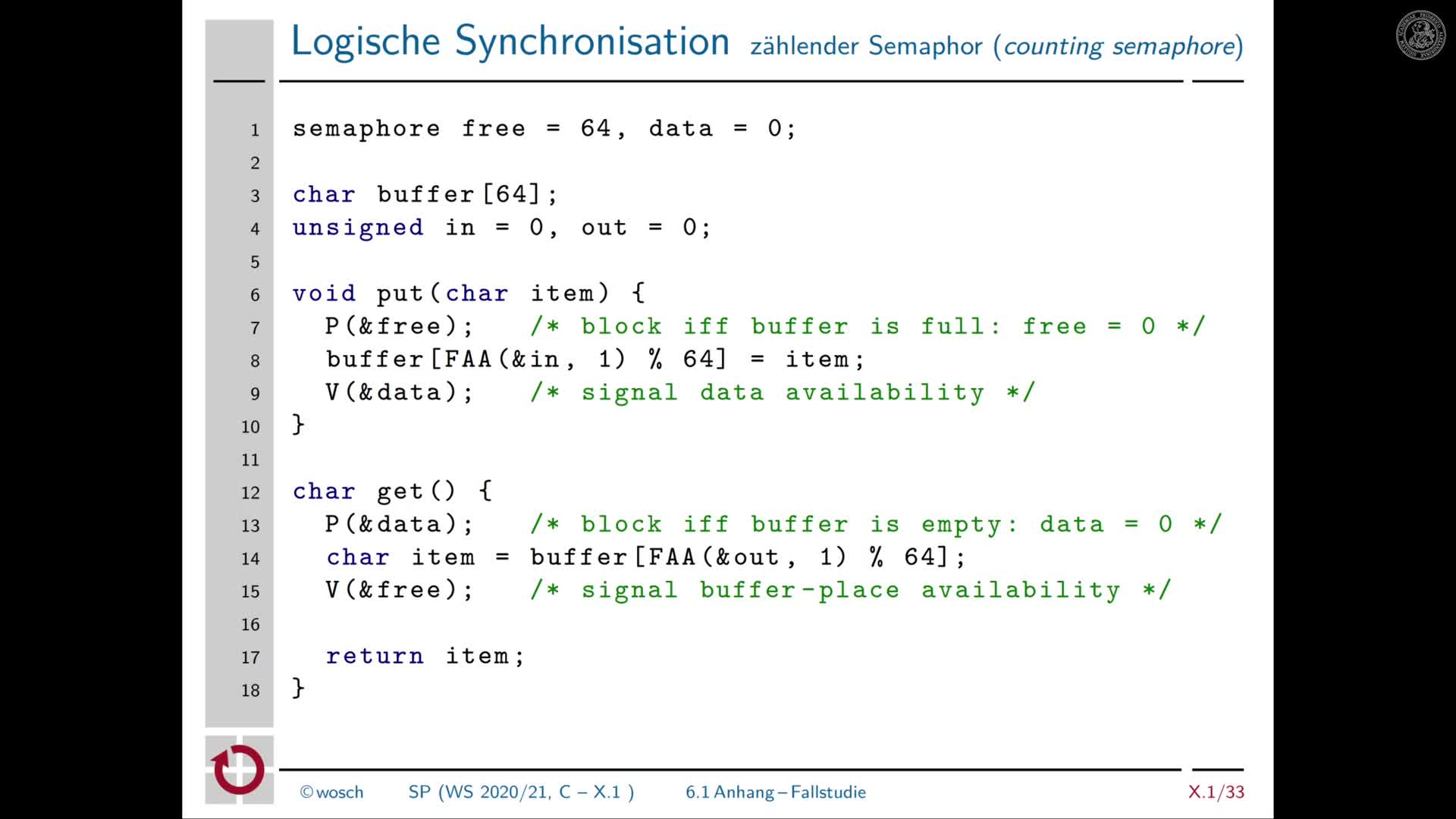 10.7 Nichtsequentialität: Anhang Logische Synchronisation: bounded buffer preview image