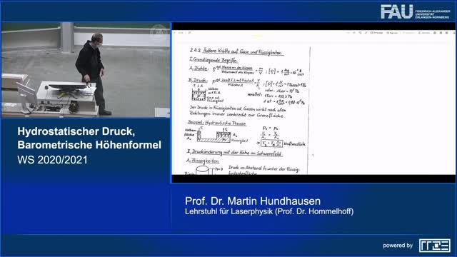 Hydrostatischer Druck, barometrische Höhenformel preview image