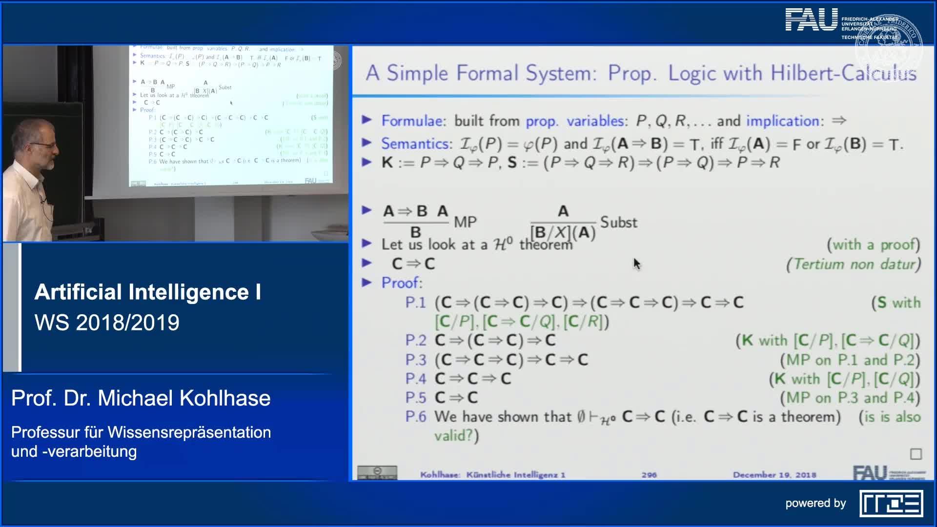 Recap Clip 11.8: Propositional Natural Deduction Calculus preview image