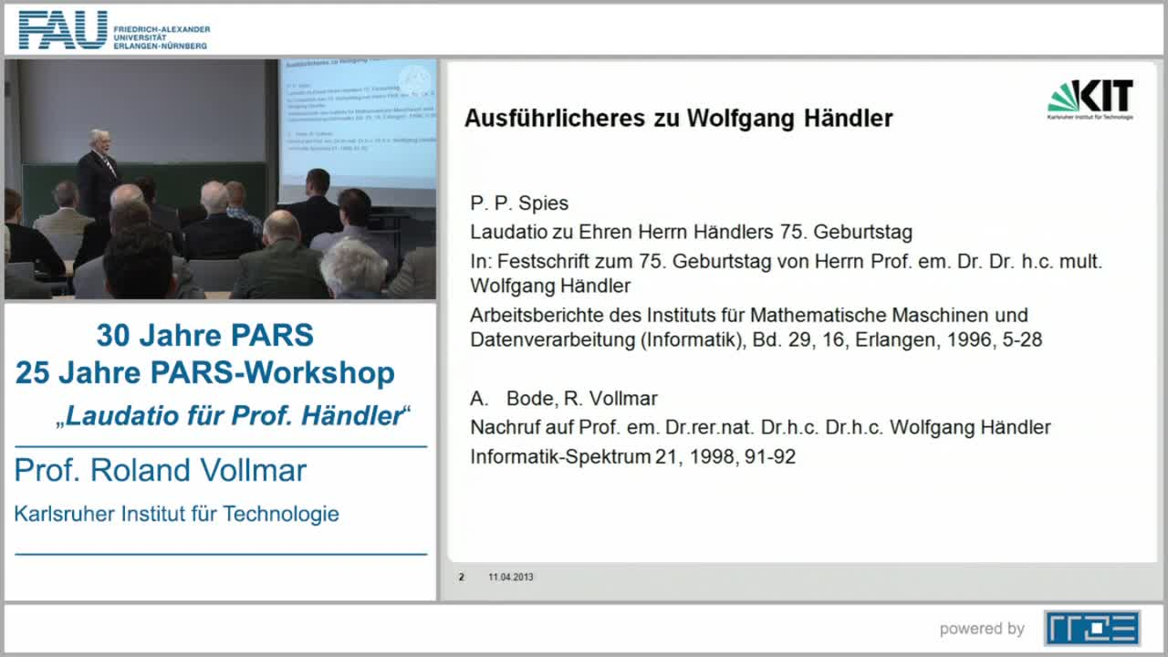 Laudatio für Prof. Händler preview image
