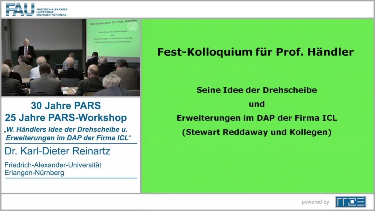 Wolfgang Händlers Idee der Drehscheibe und Erweiterungen im DAP der Firma ICL preview image