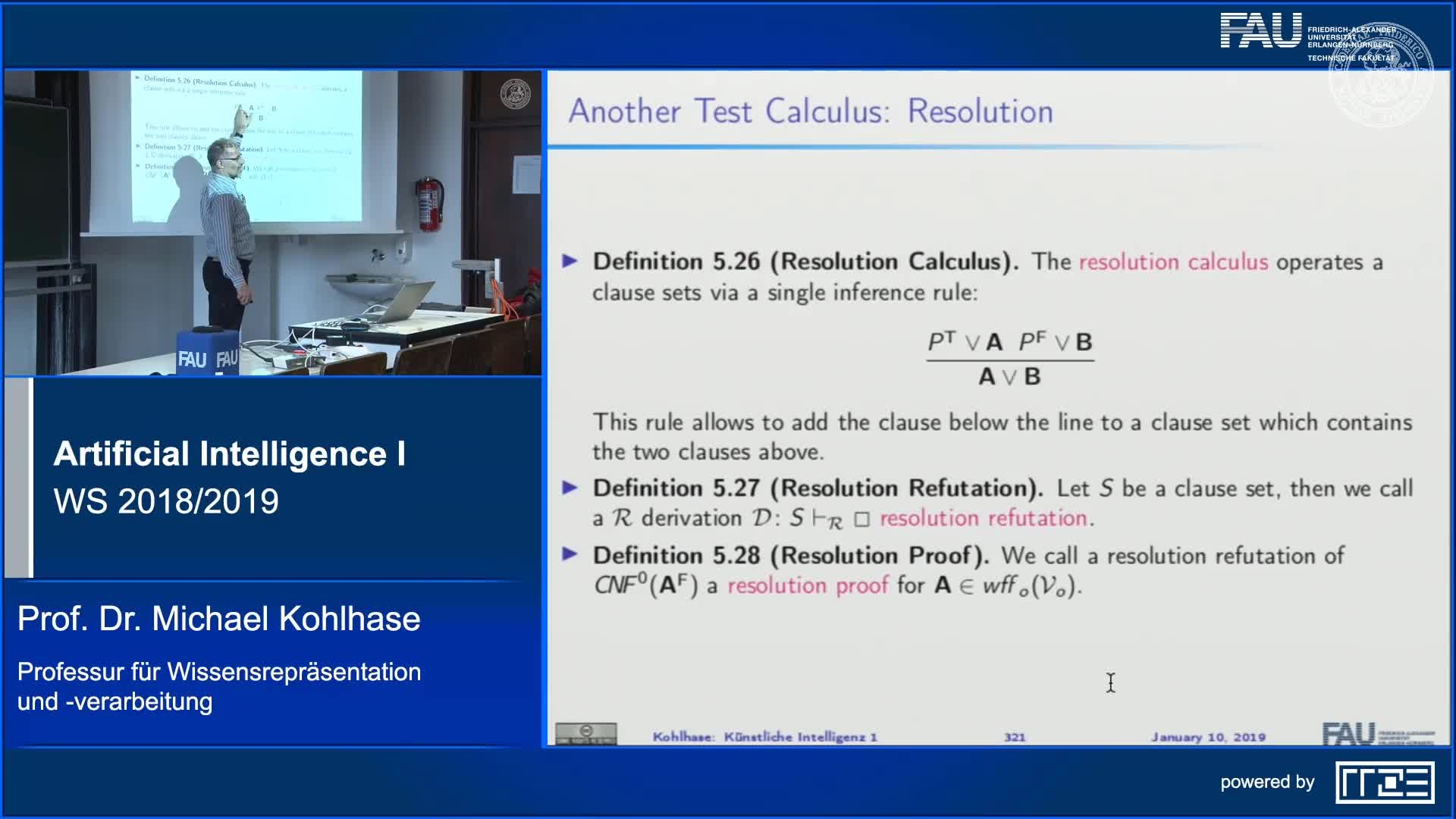 Recap Clip 11.12: Resolution for Propositional Logic preview image