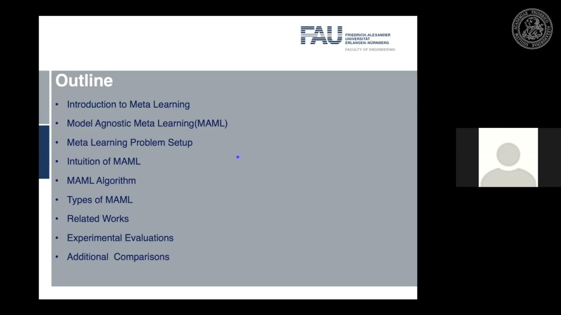 Seminar Meta Learning (SemMeL) - Arka Nandi - Model-Agnostic Meta-Learning for Fast Adaptation of Deep Networks preview image