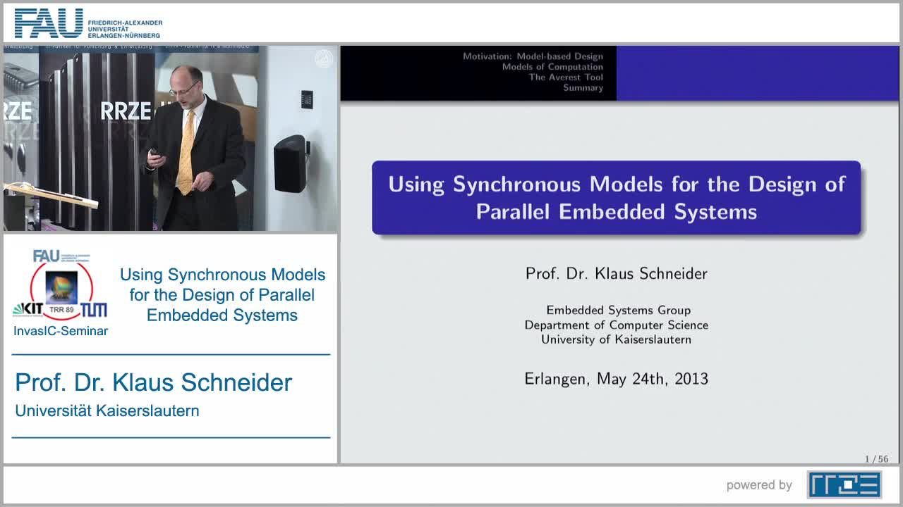 Using Synchronous Models for the Design of Parallel Embedded Systems preview image