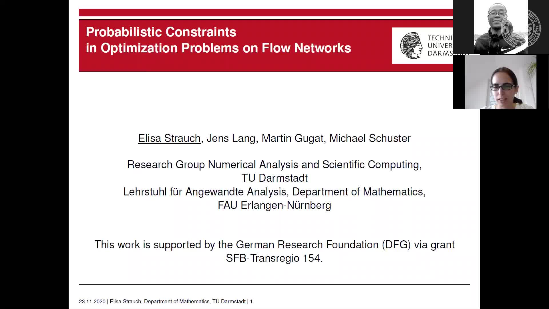 Probabilistic Constraints in Optimization Problems on Flow Networks (Elisa Strauch, TU Damstadt) preview image