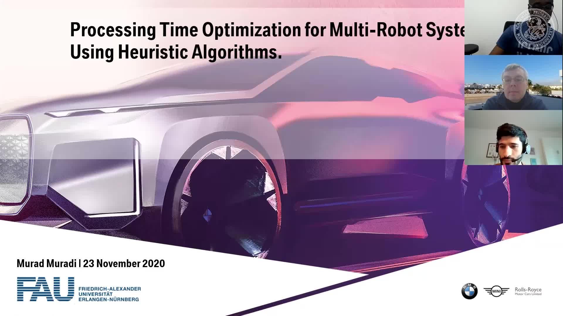 Processing Time Optimization for Multi-Robot Systems Using Heuristics Algorithms (Murad Muradi, FAU) preview image