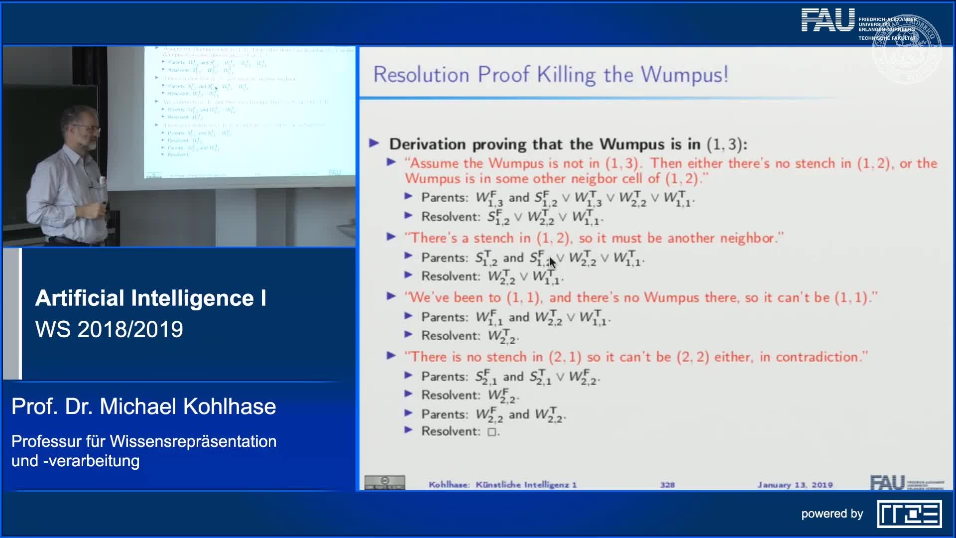 Recap Clip 11.13: Killing a Wumpus with Propositional Inference preview image