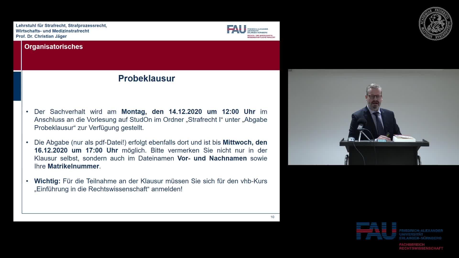 Grundkurs Strafrecht I - Einheit 11 preview image