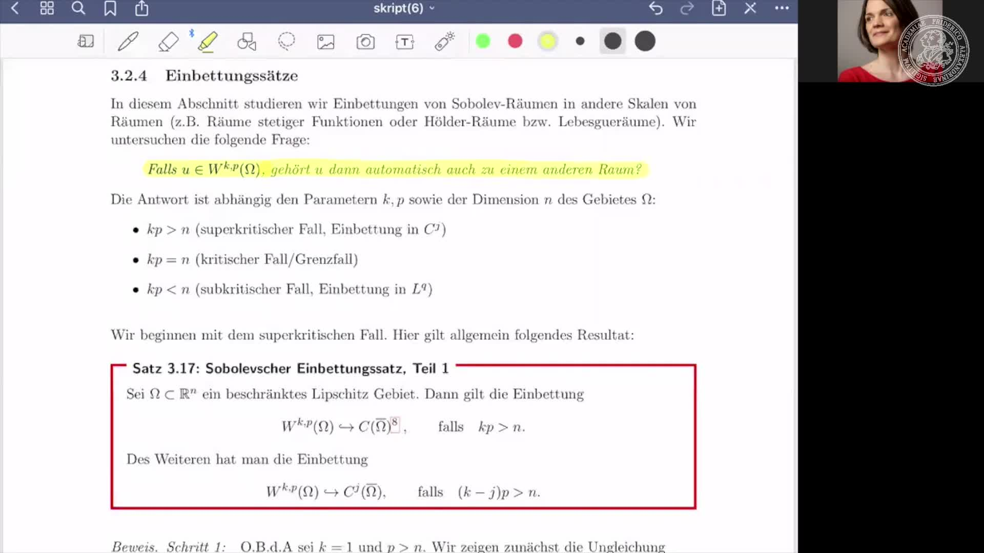 Partielle Differentialgleichungen I preview image