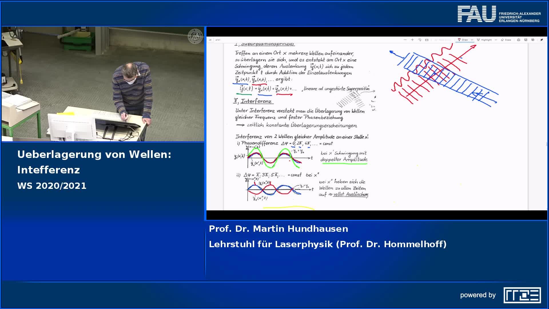 Überlagerung von Wellen: Interferenz preview image