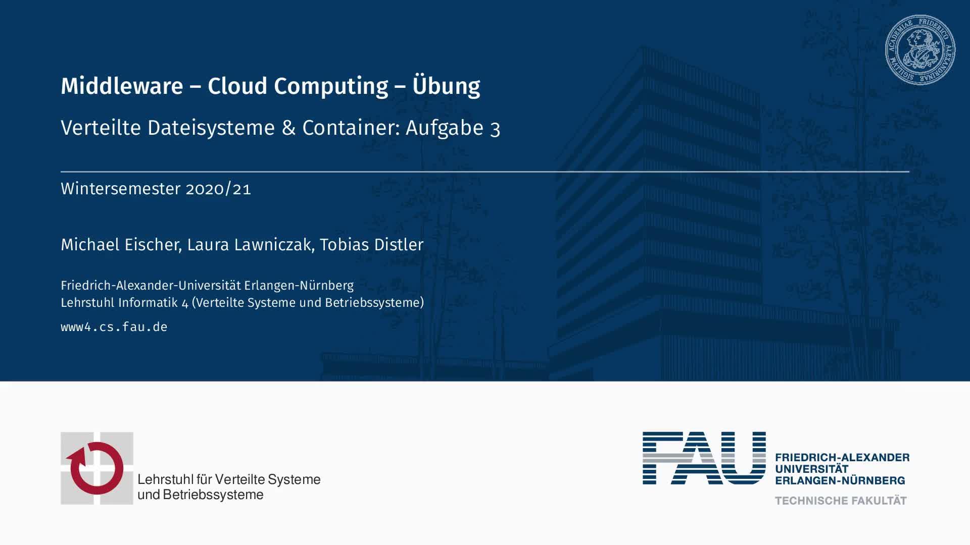 Verteilte Dateisysteme und Container-Betriebssystemvirtualisierung preview image