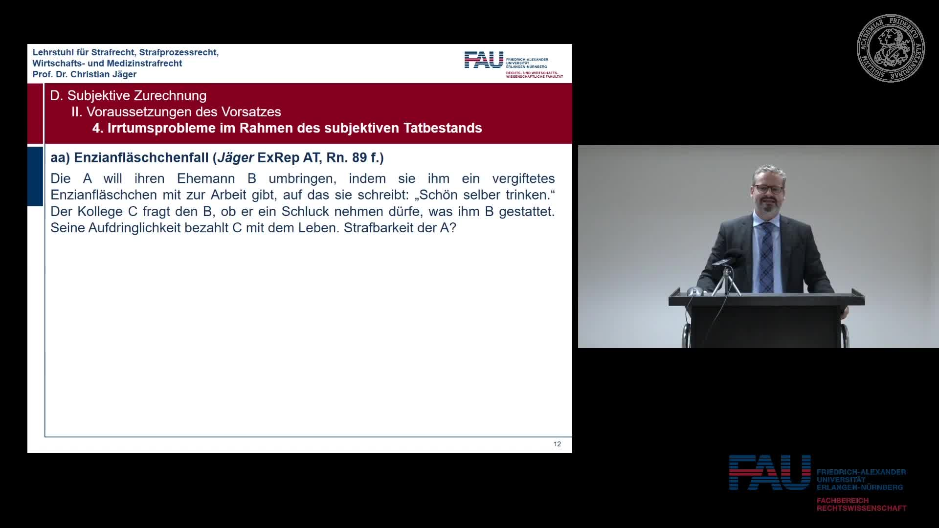 Grundkurs Strafrecht I - Einheit 14 preview image